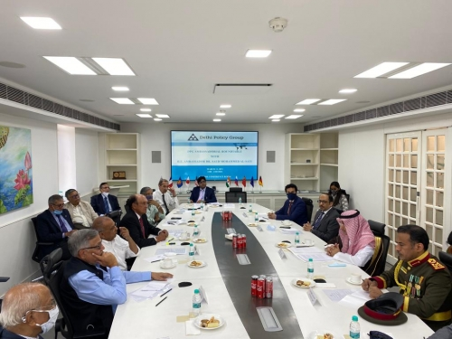 Ambassadorial Roundtable with H.E. Dr. Saud Mohammed Al-Sati,  Ambassador of the Kingdom of Saudi Arabia to India