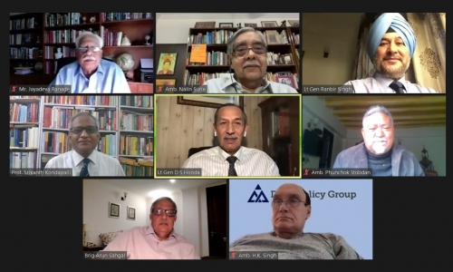 "DPG WEBINAR ""ONE YEAR ON: THE LAC STANDOFF AND INDIA'S POLICY OPTIONS"""
