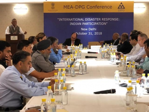 "MEA-DPG CONFERENCE  ON  ""INTERNATIONAL DISASTER RESPONSE: INDIAN PARTICIPATION"" - Pic 1"