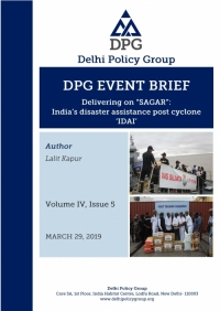 "Delivering on ""SAGAR"": India's disaster assistance post cyclone 'IDAI'"