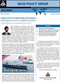 DPG BRIEF: Vol. I, Issue 2 :India Steps up Maritime Diplomacy
