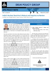 DPG Policy Note Vol. II, Issue 3: India's Nuclear Doctrine is Robust and requires no Review