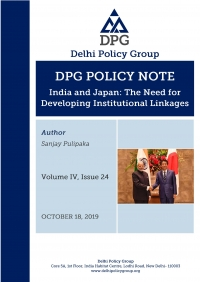 DPG Policy Note Vol. IV, Issue 24: India and Japan: The Need for Developing Institutional Linkages