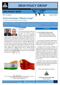 "DPG Policy Note Vol. II, Issue 6: China's Himalayan ""Mission Creep"""