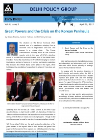 Great Powers and the Crisis on the Korean Peninsula