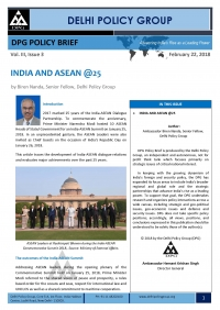 INDIA AND ASEAN @25