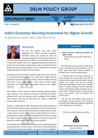 India's Economy: Reviving Investment for Higher Growth