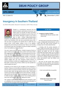 Insurgency in Southern Thailand