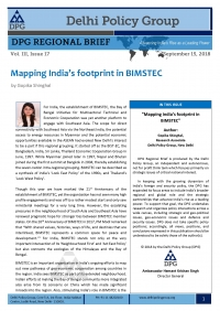 Mapping India's footprint in BIMSTEC