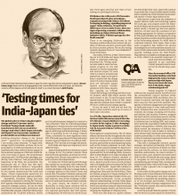 Testing times for India-Japan ties