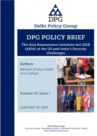 The Asia Reassurance Initiative Act 2018 (ARIA) of the US and India's Security Challenges