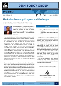 The Indian Economy: Progress and Challenges