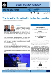The Indo-Pacific: A Realist Indian Perspective