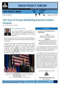 The Year of Trump: Redefining America's Global Purpose