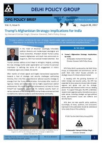 Trump's Afghanistan Strategy: Implications for India