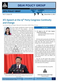 Xi's Speech at the 19th Party Congress: Continuity and Changes
