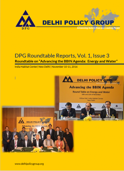 "DPG Roundtable Reports, Vol. 1, Issue 3: Roundtable on ""Advancing the BBIN Agenda:  Energy and Water"""