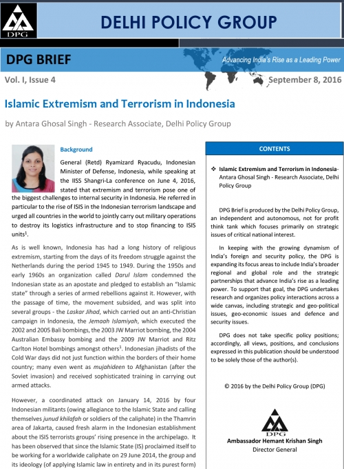 Islamic Extremism and Terrorism in Indonesia