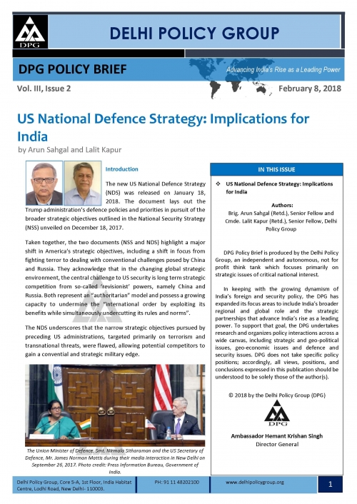 US National Defence Strategy: Implications for India